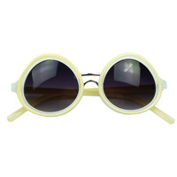 Fashion Light Yellow Sunglasses