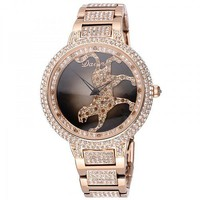 Luxury Diamond-studded Rotary Cheetah Ladies Watch