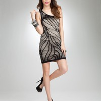 bebe One Shoulder Slash Dress
