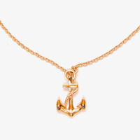 Anchor Charm Necklace | FOREVER 21 - 1039983098