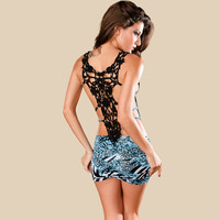 Butterfly Lace Back Dress