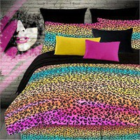 Rainbow Leopard Comforter Set by Veratex