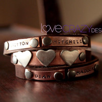 Triple wrap personalized bracelet