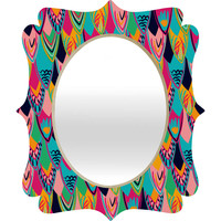 Vy La &quot;Love Birds 1&quot; Quatrefoil Mirror