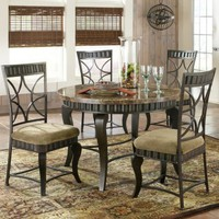 Steve Silver Hamlyn Marble Top 5-Piece Dining Table Set | www.hayneedle.com