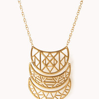 Cutout Geo Crescent Necklace