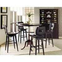 Stanley Artisan 5 pc. Adjustable Counter Height Set - Ebony | www.hayneedle.com