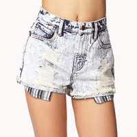 Vintage High Rise Destroyed Denim Shorts