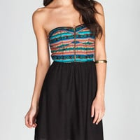 FIRE Ethnic Zip Tube Dress