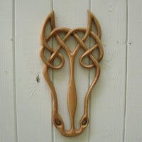 Epona- Wood Carved Celtic Horse Goddess- Horse Spirit | signsofspirit - Woodworking on ArtFire