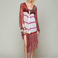 Free People Lovely In Stripes Hooded Kaftan
