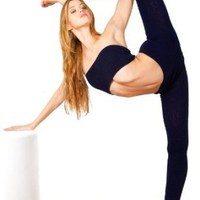 Amazon.com: High Waist Yoga, Gymnastics, Contortion & Dance Tights with Matching Crop Tube Top Bandeau by KD dance, Stretch Knit, Complete Freedom of Movement & Flexibility, Soft, Sexy & Warm Made In New York City USA: Clothing