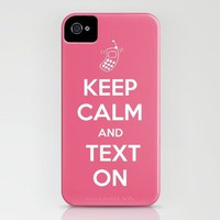 Keep Calm and Text On iPhone Case by Retro Love Photography | Society6