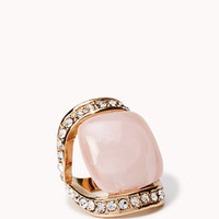 Rhinestoned Faux Marble Ring