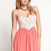 Strapless Off the Shoulder Sleeveless Pink Cotton Pleated Mini Dresses