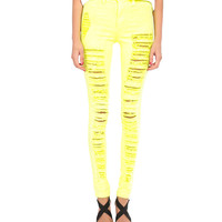 Neon Distressed High Rise Skinnies - 2020AVE