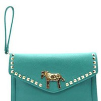 The Turquoise Horse Clutch