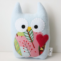 Baby Blue Sweet Owl Plush by gush4plush on Etsy