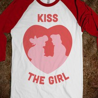 Kiss The Girl (Baseball Tee) - Always Love - Skreened T-shirts, Organic Shirts, Hoodies, Kids Tees, Baby One-Pieces and Tote Bags