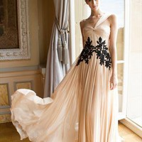 Nude Gorgeous One shoulder Evening Dress from MDress
