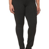 Charcoal Pull-On Ponte Skinny Pants | Pants