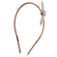 Tied Crystal Leather Headband