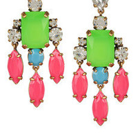 J.Crew|Collage crystal drop earrings|NET-A-PORTER.COM