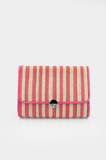 Eva Clutch in Pink - ShopSosie.com