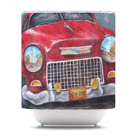 "Rosie Brown ""Vintage in Cuba"" Shower Curtain 