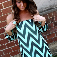 Simply Chevron Off-the-Shoulder | The Rage