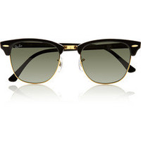Ray-Ban|Clubmaster half-frame acetate sunglasses|NET-A-PORTER.COM