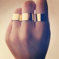 Wide Gold Rings