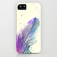Feather  iPhone &amp; iPod Case by Mnika  Strigel	