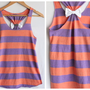 Striped Bow Tank Top Coral   Large  Limited Edition by personTen