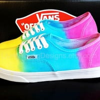 OMBRE VANS Rainbow Tie Dye Vans
