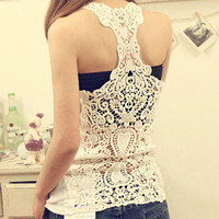 Nice Hollow out Lace Vest