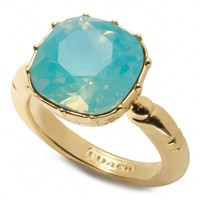 Coach :: Cushion Stone Ring