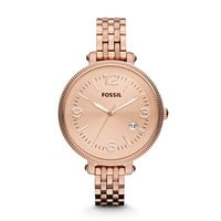 ES3130 - Heather Three Hand Stainless Steel Watch – Rose
