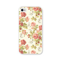 Peach Floral Rose iPhone Case - iPhone 5 Case - iPhone 5 Cover - iPhone 5 Skin - Coral Pink Pastel Flowers iPhone 5 Case