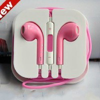 fancybuy  sweet pink iphone 4/4s/5/ipad earphone headphone