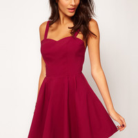 ASOS Structured Strap Back Dress In Bengaline