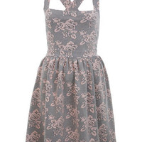 Rose Jacquard Pinny Dress