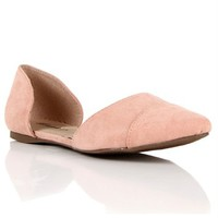 Blush Pointed Flat
