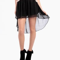Cupcake Flowy Skirt in Black