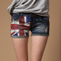 Union Jack Print Shorts for Women from ChicMall