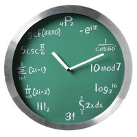 Math Clock | Home Living | SkyMall