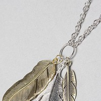 *Accessories Boutique The 30'' Mixed Metal Feather Pendant Necklace,Jewelry for Women