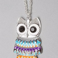 The Enamel Owl Necklace