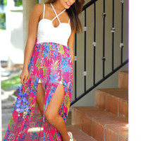 Getting Back Together Floral Maxi: Multi | Hope's