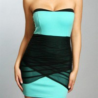 The Black & Mint Evening Dress